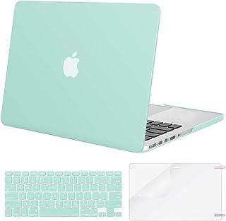 MOSISO Funda Dura Compatible con MacBook Pro 13 Retina A1502 / A1425 (Versión 2015/2014/2013/fin 2012), Carcasa Rígido & Cubierta de Teclado (USA Versión) & Protector de Pantalla, Menta Verde