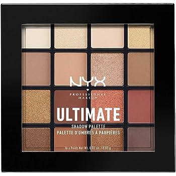 NYX Professional Makeup Paleta de sombra de ojos Ultimate Shadow Palette, Pigmentos compactos, 16 sombras, Acabados mate, satinados y metalizados, Tono: Warm Neutrals: Amazon.es: Deportes y aire libre