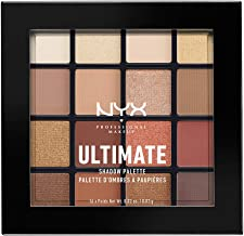NYX PROFESSIONAL MAKEUP Ultimate Shadow Palette, Eyeshadow Palette, Warm Neutrals,1 Count