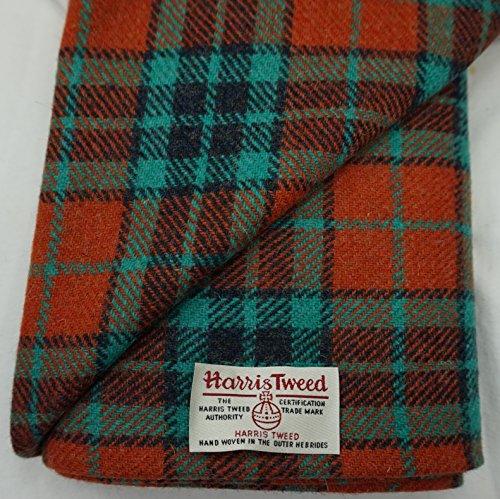 Authentic Harris Tweed Stoff 100% reine Wolle mit Etiketten.. 75cm x 50cm –-Nr. aug23–--...