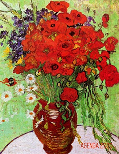 Van Gogh Agenda Semanal 2020: Florero con Margaritas y Amapolas   Post Impresionismo   Planificador Mensual que Inspira Productividad   Pintor ... Mensual 2020: 73 (Agenda 2020 Semana Vista)