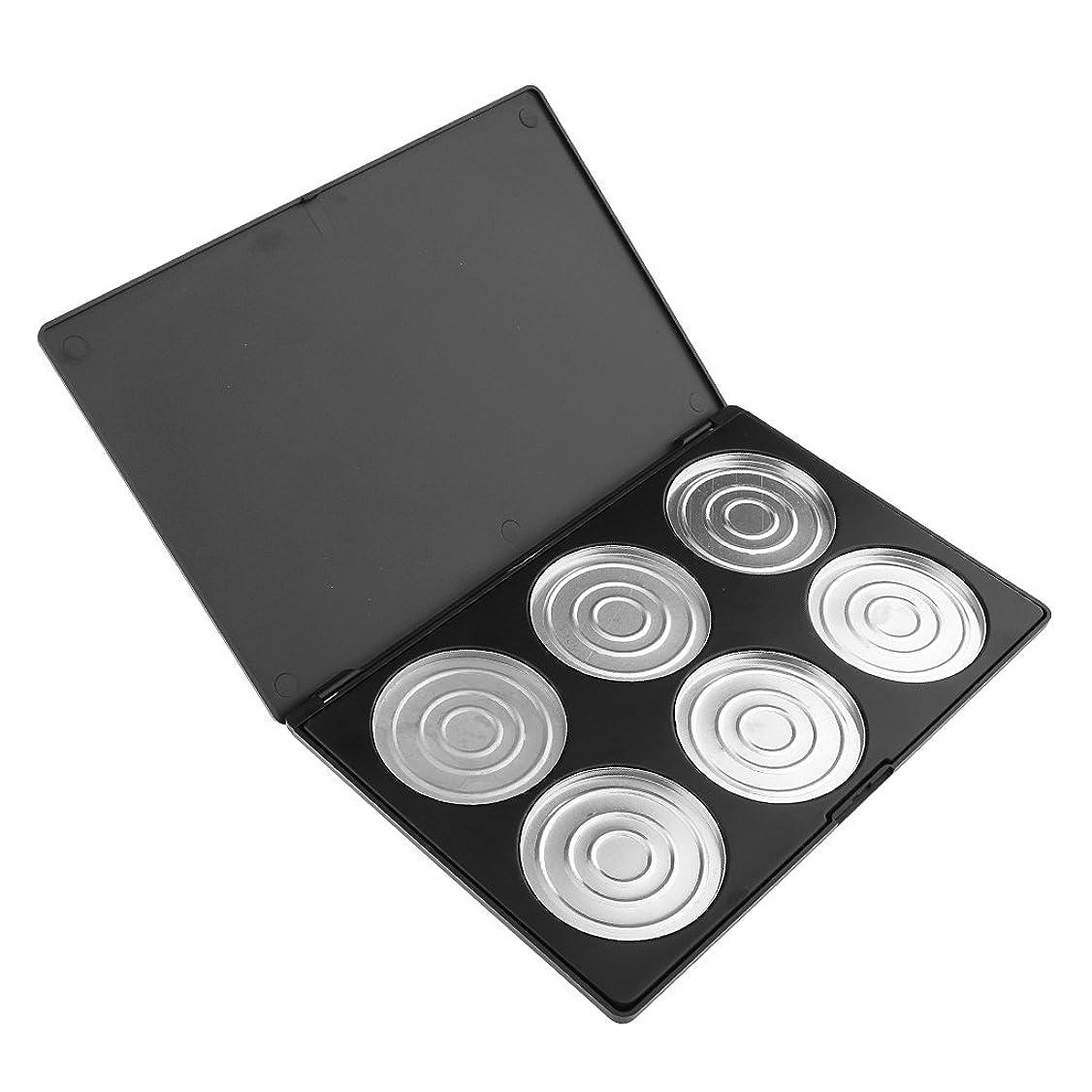 古くなった誓約のりPerfk 6/12グリッド メイク 空ケース アイシャドー ブラッシャー リップ グロスパレット 化粧品 収納ケース コレクション - 6色収納ケース