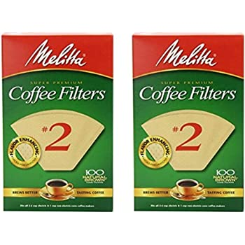 Melitta Cone Coffee Filter #2 - Natural Brown 100 Count (2 Pack)