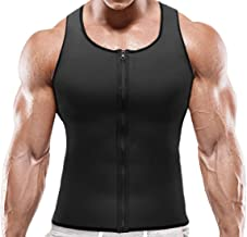 NOVECASA Sauna Vest Gewichtsverlies Heren Neopreen met Rits Spier Shirt Kostuums Fitness Tank Top Shapewear Shirt Afslanke...