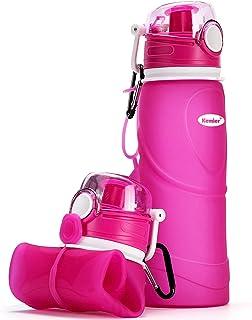 comprar comparacion Kemier Botellas de Agua de Silicona Plegables–750ML,Calidad Médica Libre de BPA,Aprobado por FDA.Puede Enrollarse Hasta 26...