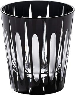 江戸切子「黒」立縞 天開オールドグラス TB95136 木箱入り 太武朗工房直販 日本製