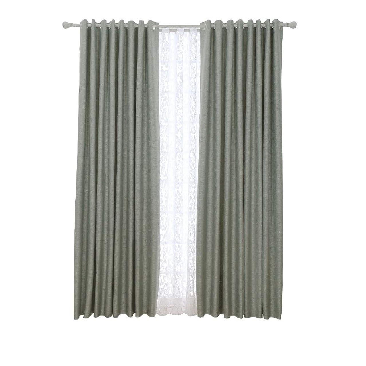 出くわすタイピストバーマドカーテンモダンなミニマリストのカーテン仕上げのリネンシェードクロス寝室のリビングルームのバルコニー床のカーテン (Size : Width 150*height 270cm (curtain))