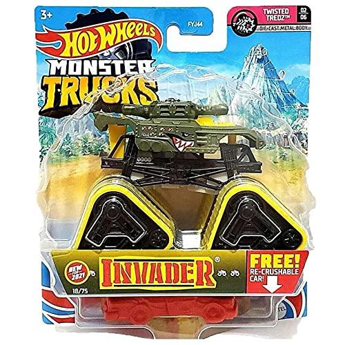 Hot Wheels - FYJ44 Monster Trucks 1:64 Die-Cast Spielzeugauto, Zufällige Auswahl, Spielzeug ab 3 Jahren, Modell und farblich sortiert