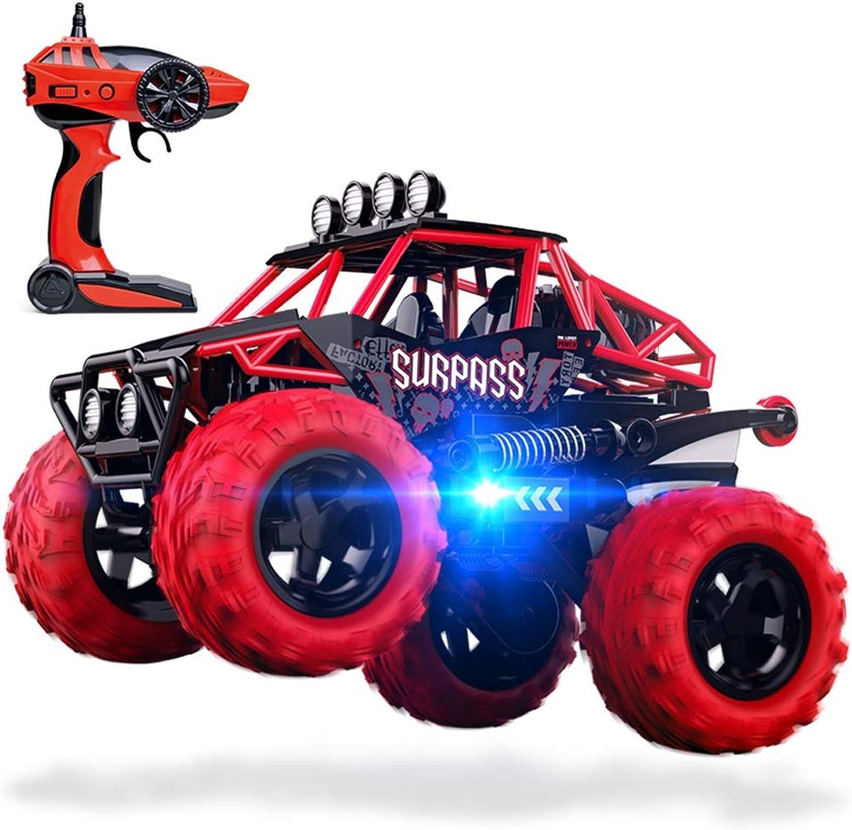 PETRLOY 4WD rot Cross Country Spielzeugauto für Kinder 2.4GHZ Drahtlose Fernbedienung Klettern Geschwindigkeit Racing Walk Aufrecht 360 ° Rotation 1 14 Skala Hoch 46km   h Off-Road-RC-Auto Monster Tru