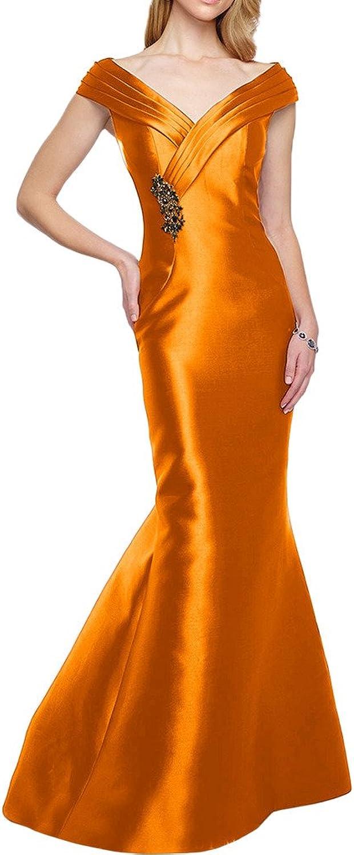 Avril Dress Elegant Sheath Weding Guest Satin off the Shoulder Evening Dress