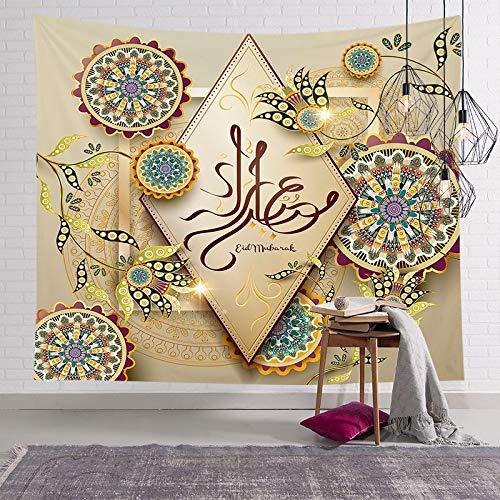 Fondo Impreso Tapiz Tapiz de Pared rectángulo Mubarak Kareem decoración del hogar A3 200x180cm