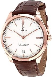 Omega De Ville Tresor Silver Dial 18k Sedna Rose Gold Men's Watch 432.53.40.21.02.002