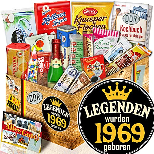 Legenden 1969 - Geschenkbox zum 50ten - DDR Paket mit Süßigkeiten