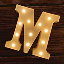 MUMUXI LED Marquee Letter Lights 26 Alphabet Light Up Marquee Number Letters Sign for Wedding Birthday Party Battery Power...