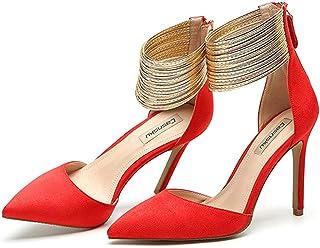 Sandalen Rood Banket Hoge hakken - Mode Punt 10,5 cm Hoge hak Elegante Ondiepe Mond Bruiloft Schoenen Sexy Damesschoenen