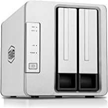 TerraMaster F2-210 2-Bay NAS Quad Core Network Attached Storage Media Server Personal..
