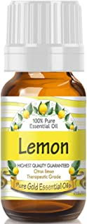Pure Gold Lemon Essential Oil, 100% Natural & Undiluted, 10ml
