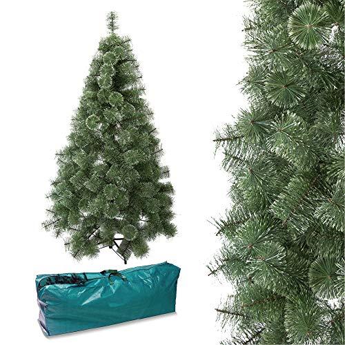 Arcoiris Árbol de Navidad Artificial Acebo, Natural Verde, Material PVC, Soporte deMetal (150CM, Agujas de Pino con Nieve)