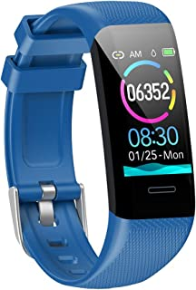 Fitness Tracker Waterproof(IP67) Fitness Watch with Heart Rate Monitor,Sleep Tracking, Step Counter Compatible Android iOS Phones Activity Tracker for Workouts for Men Women Kids