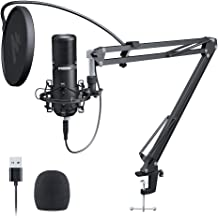 USB Podcast Microphone 192KHZ/24BIT MAONO PM420 Plug & Play Cardioid Condenser PC Mic with Professional Sound Chipset for Gaming, Streaming, YouTube, Voice Over, Studio/Home Recording