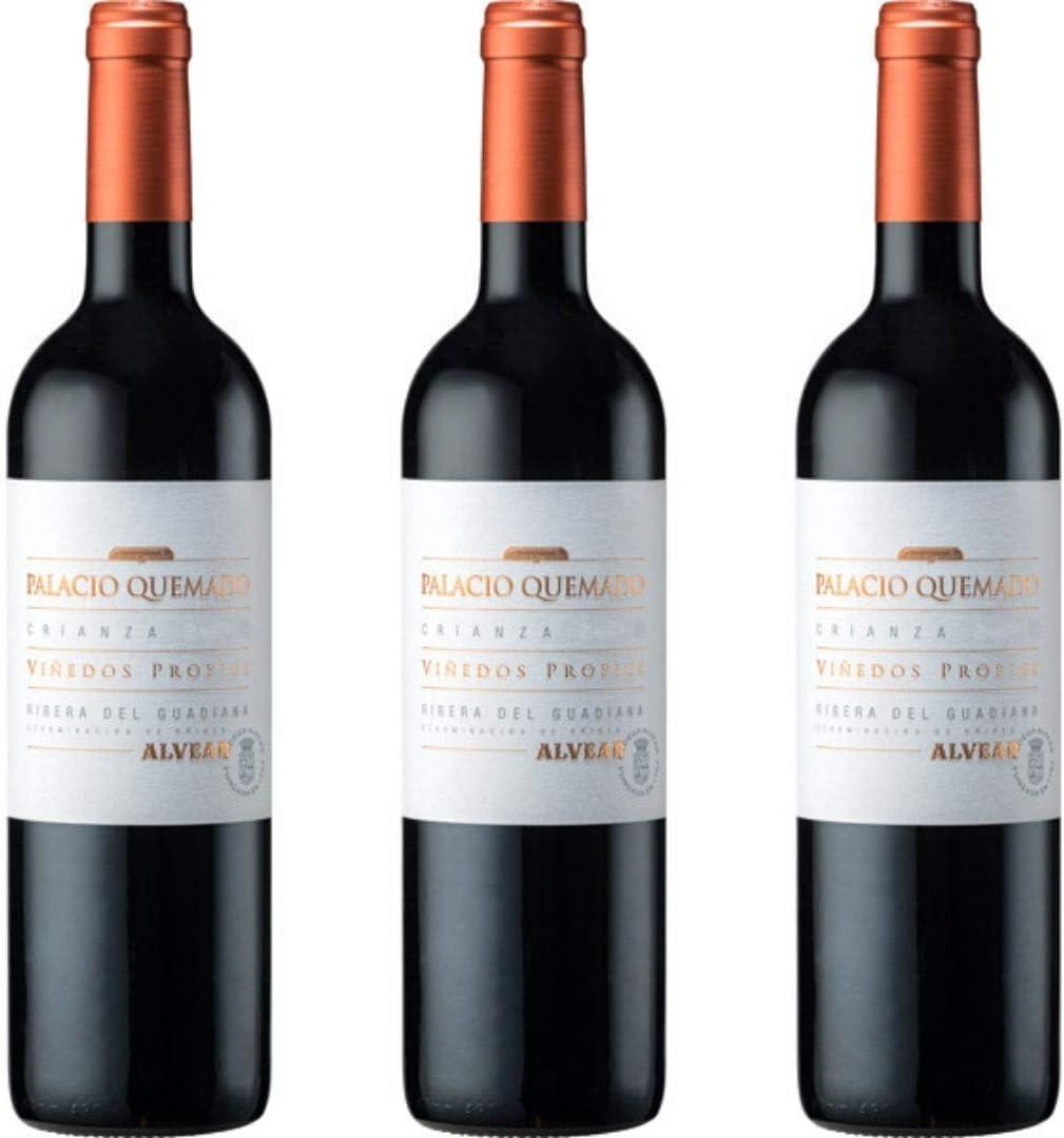 Palacio Quemado Vino Tinto Crianza - 3 botellas x 750ml - total: 2250 ml