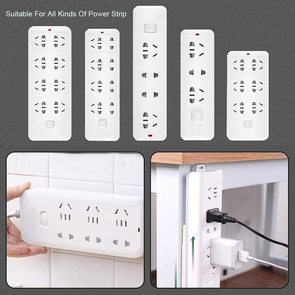 Camisin 3PCS Home-Free Wall-Mounted Plug-in Board Router Plug-in Line Board Holder
