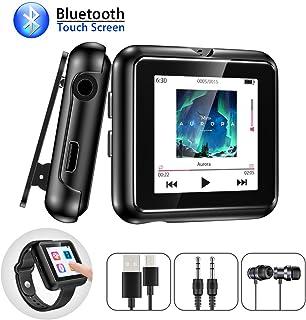 VOR Grabaci/ón Soporta Ampliable hasta 128GB T11S Radio FM Negro Hommie Reproductor MP3 Bluetooth 16GB Pantalla T/áctil Completa de 2,8pulgadas HiFi con Altavoz Incorporado