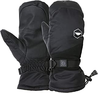 Winter Ski Mittens for Men & Women - Warm Adult Snow Mitts for Cold Weather - Waterproof Gloves Designed for Snowboarding, Skiing, Shoveling & Other Outdoor Sports - with Wrist Leashes