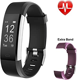 TaoKey Fitness Tracker HR, Activity Tracker with Heart Rate Monitor Watch, IP67 Waterproof Smart Wristband with Calorie Counter Watch Pedometer Sleep Monitor for Kids Women Men