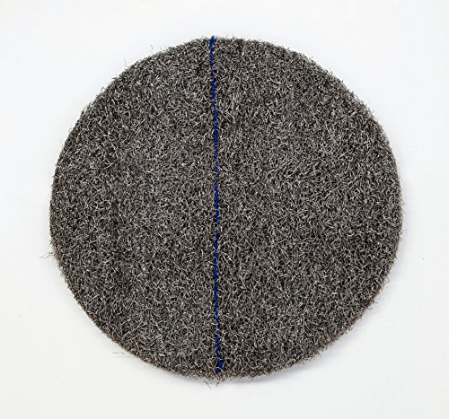 DISCO CRISTALIZADOR DE LANA DE ACERO PREFABRICADO cristalizar, pulir, limpiar (13'/33cm, Azul)