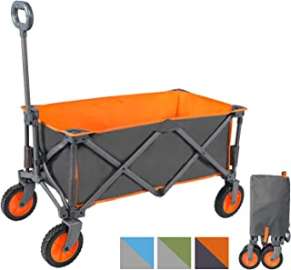 Portal Outdoors Unisex's Alf Folding Trolley Wagon, Strong Study Frame, 100kg Max Load, Perfect for Festivals/Camping