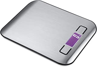 Food Scale - Kitchen Scale - Digital Food Scale - Weighs in Grams Kilograms Pounds Ounces g kg lb oz - 11 Lb / 5 Kg Capacity - Stainless Steel - Scale Kitchen - Scale Food - Electronic Scale
