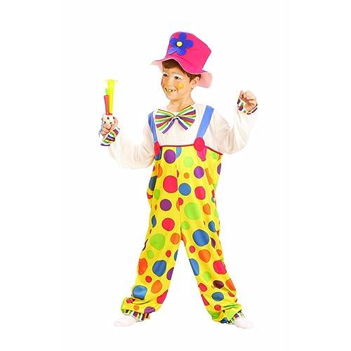 Enfants spot de clown de cirque Fancy Dress Costume Small Size 4-6 ans   8e7863e66ae