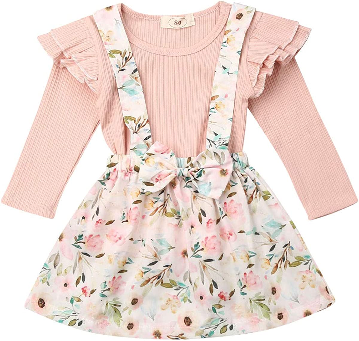 Toddler Newborn New products world's highest quality popular Baby Girls Ruffle Sleeveless Round Quality inspection T-Shirt Neck