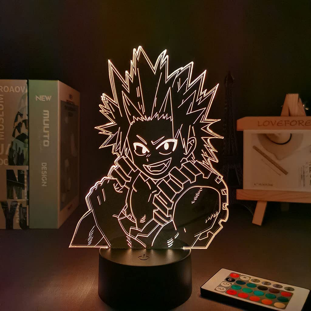 Anime My Hero Academia 3D Led Free shipping on posting reviews Color 7 security Changing lamp Illusion Nig