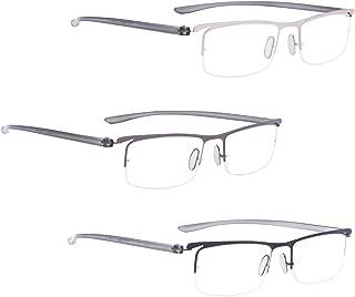 READING GLASSES 3 pack Half-rim Readers