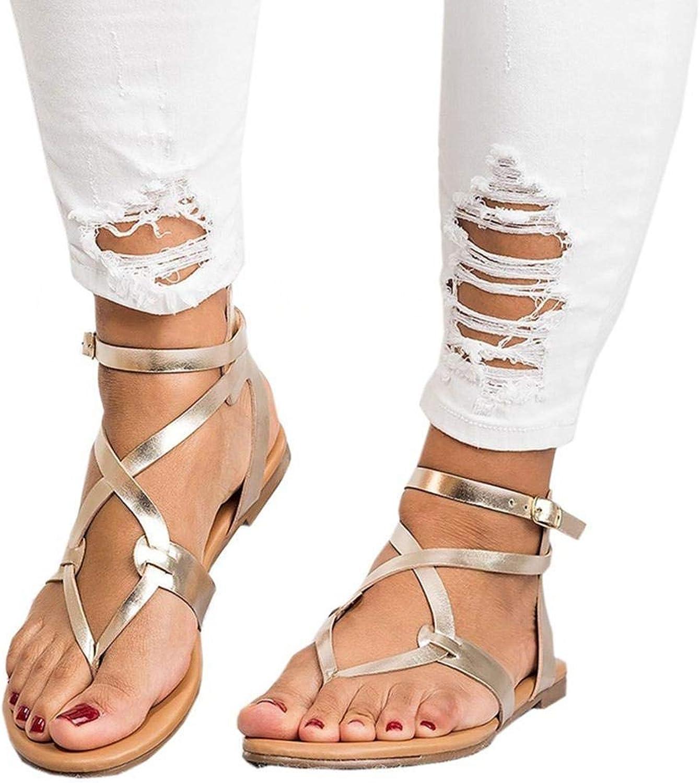 KOKOBUY Women's Flat Sandals, Casual Summer Slides shoes, Beach shoes Flip-Flops