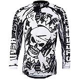Broken Head MX Jersey Street Rebel Weiß-Schwarz - Langarm Funktions-Shirt Für Moto-Cross, Mountain Bike, Offroad - M