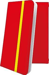 スマートフォンケース・Xperia J1 Compact D5788・互換 ケース 手帳型 赤 レッド 赤色 おしゃれ エクスペリア コンパクト 手帳型スマートフォンケース・かっこいい XperiaJ1 ボーダー マルチストライプ