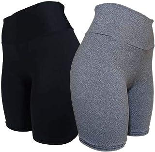 kit 3 shorts femininos suplex ciclista meia coxa academia