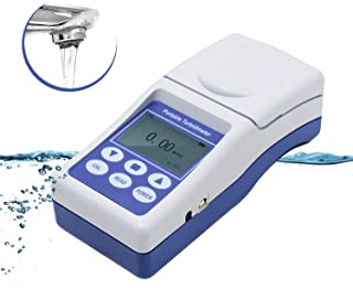 NEWTRY 0~1000NTU Portable Digital Turbidity Meter Lab Turbidimeter Water Quality Turbidity Detection Analyzer Tester (0~1000NTU)
