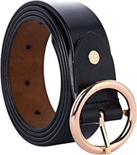 """uxcell® Women Fashionable Stylish Leather Belt Round Pin Buckle Casual Width 1"""""""