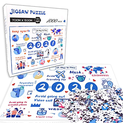 Challenge Jigsaw Puzzles 1000-Piece for Kids & Adults Puzzle Every Piece is Unique Puzzle with Letters On Back The Pieces Fit Together Perfectly
