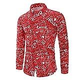 ღLILICATღ Camisas Hombre Manga Larga Camisa Camisa Casual para Hombre Slim Fit Camisas Modernos Estampado de Letras Top Casuales Suave Cómodo Tops de San Valentín