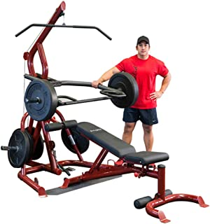 Body-Solid GLGS100P4 Corner Leverage Gym Package with GFID100 Bench