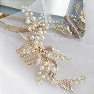 Hair Clip Bridal Hair Jewelry Combs Headdress Women Gold Headdress Flower Leaf Hairpins Party Brides Wedding Accessories