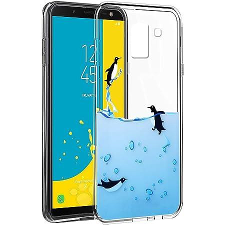 Cover Samsung J6 2018 Eouine Custodia Cover Silicone Trasparente con Disegni Ultra Slim TPU Silicone Morbido Antiurto 3D Cartoon Bumper Case per Samsung Galaxy J6 2018 5,6 Smartphone Mare