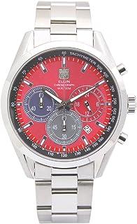 [エルジン]ELGIN 腕時計 クロノグラフ 日本製ムーブメント オールステンレス レッド FK1411S-R メンズ