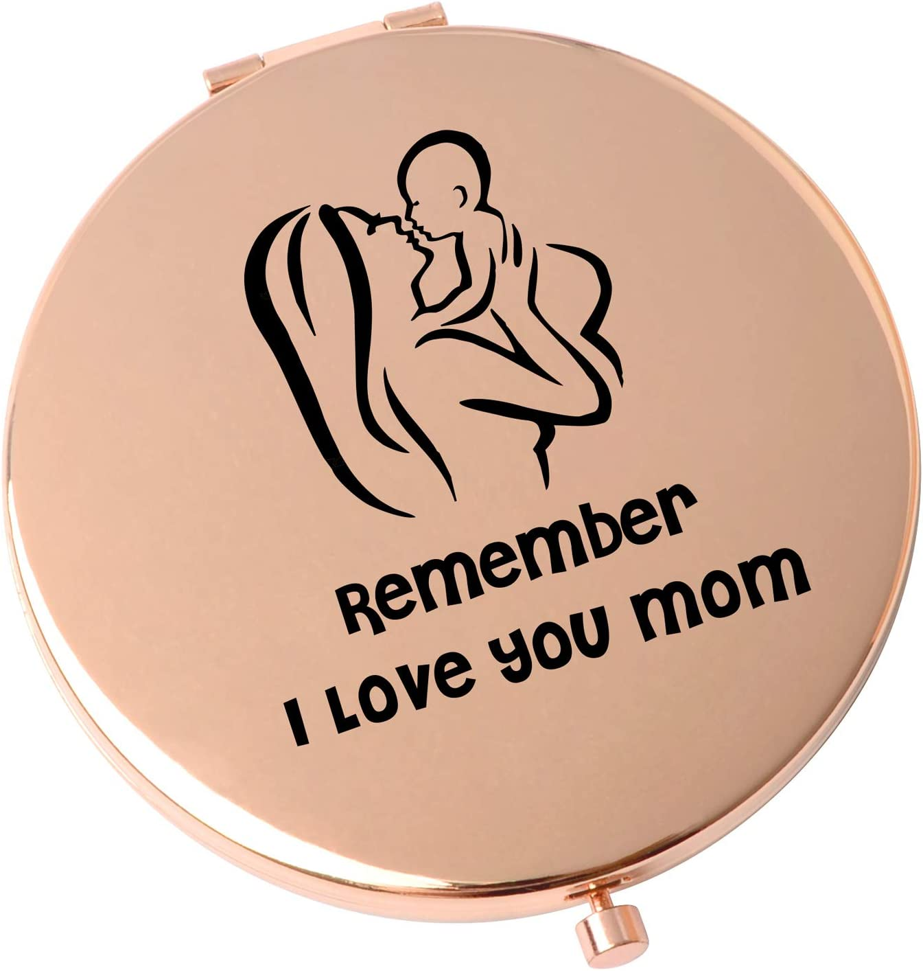 Mom Best Gift Pocket Metal Mirrors Raleigh Mall Compact Mirror Max 43% OFF Travel Birthda