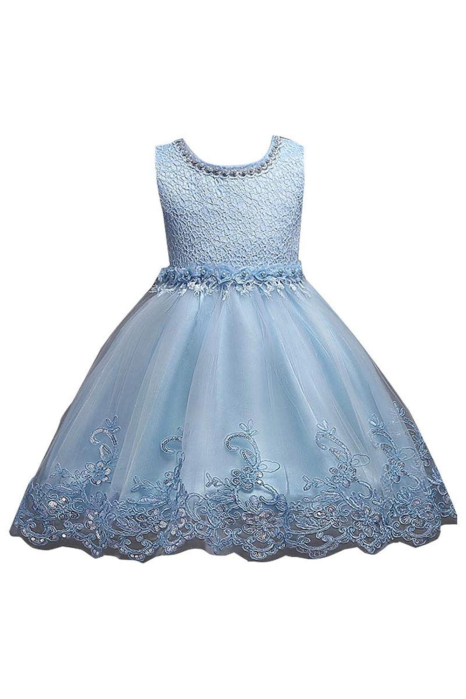 Yming女の子用ドレスコスチュームゴールデンプリンセスドレス2?–?8歳